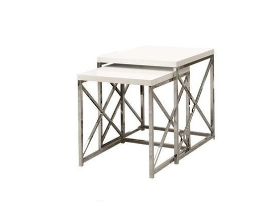 City White Nesting End Table