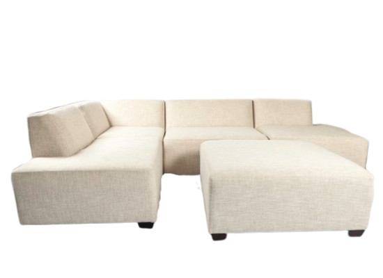 Cube Sectional (Light Grey)