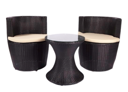 georgina patio set (black)