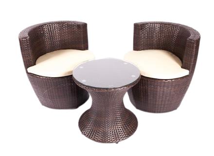 georgina patio set (brown)