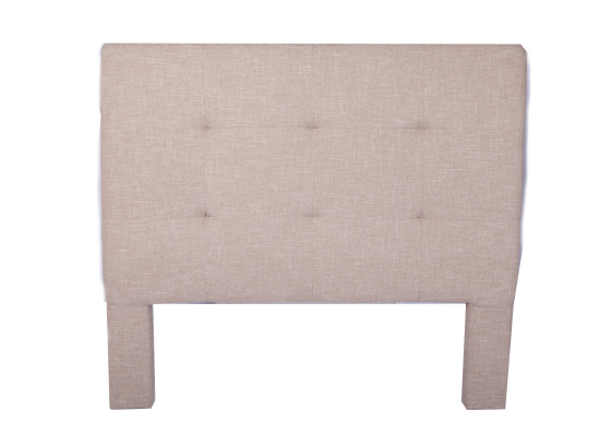 noah headboard (double taupe)