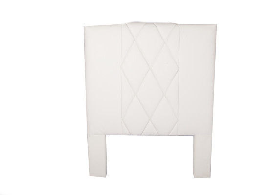 leather headboard (single white)