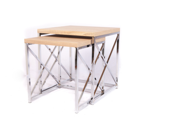 City Natural Nesting End Table