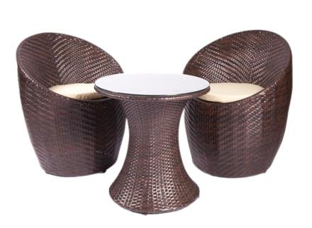 orilia patio set (brown)
