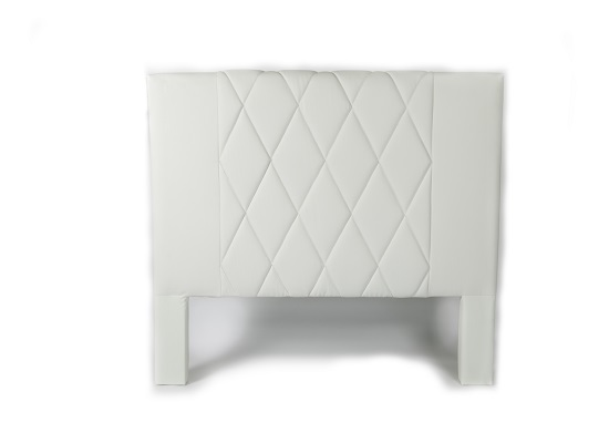 Leather Headboard (queen white)