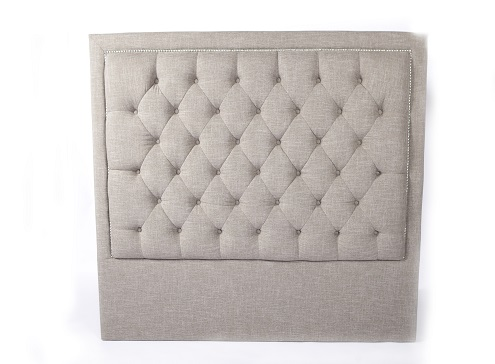 diamond headboard (queen taupe)