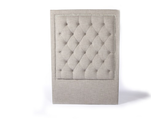 diamond headboard (single taupe)