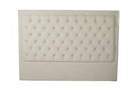 diamond headboard (king taupe)