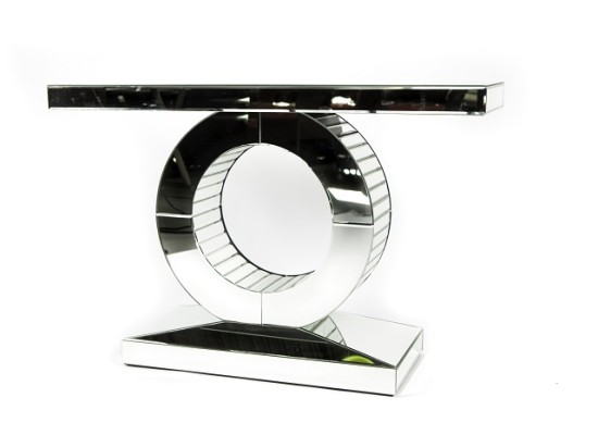 mila mirrored console