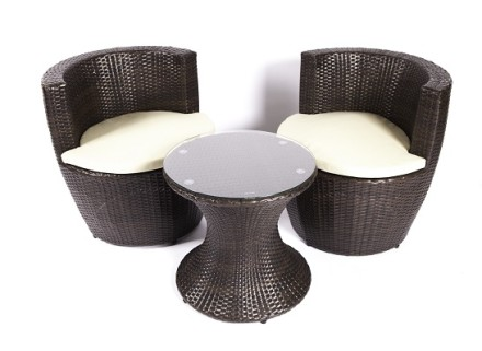 georgina patio set (brown)