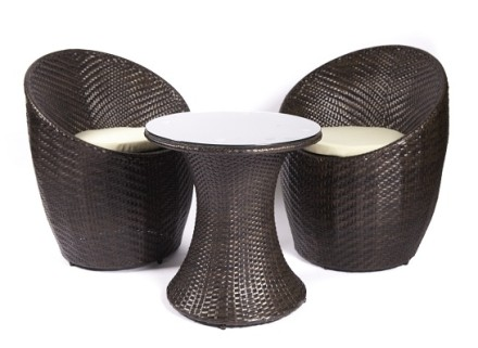 orilia patio set (brown)