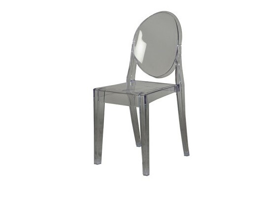 Armless Ghost  Chair (grey)