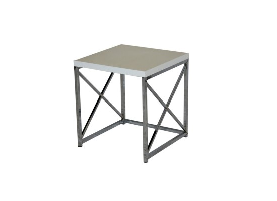 City White End Table (small)