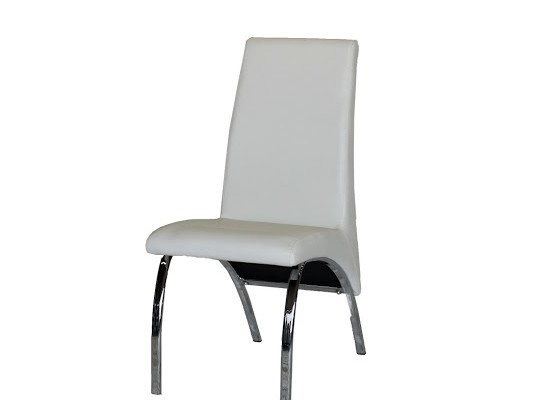 Filo leather dining chair (white)