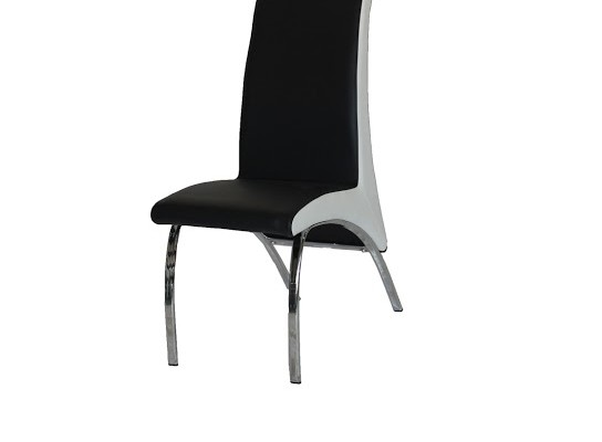 Filo leather dining chair (black & white)