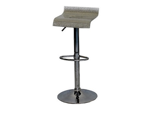 Glass Bar Stool (silver) (br 4)