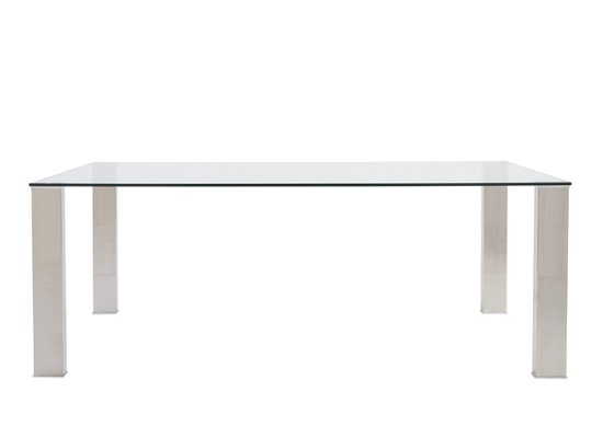 Mono dining table (white legs)