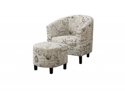 Shakespeare Accent Chair with ottoman