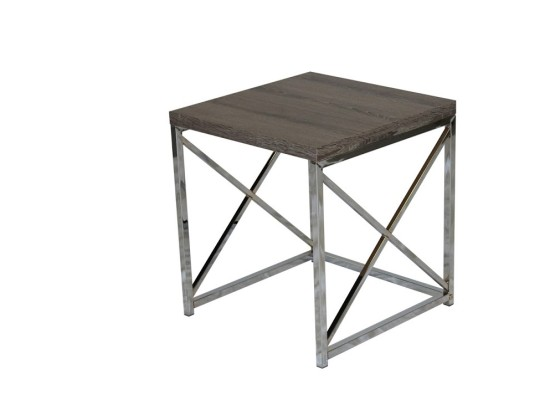 City Taupe End Table (large)