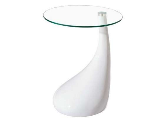 drop end table (white)