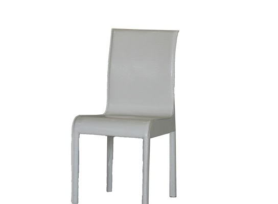leather Dining chair (White)