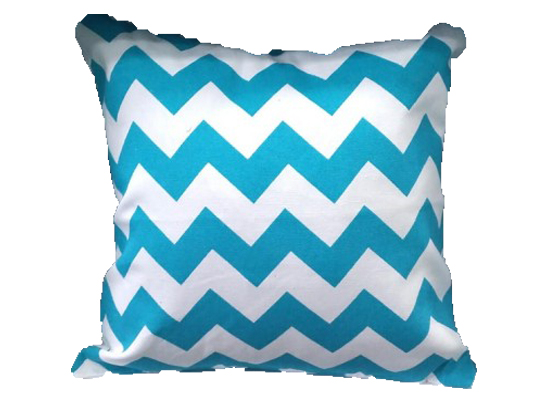 Zig Zag Blue Pillow (PLL 42)