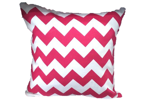 Zig Zag Red Pillow (PLL 24)