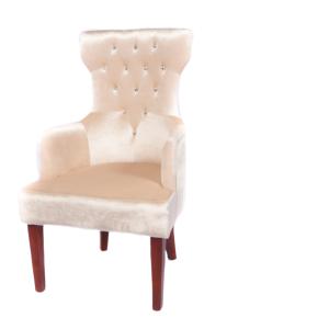 Queen Accent Chair (Beige)