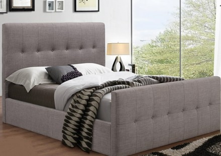 Ash full bed ( Queen grey)