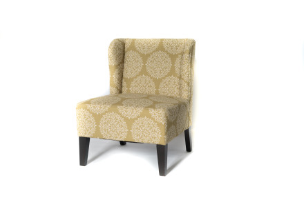 Crystal accent chair (green)