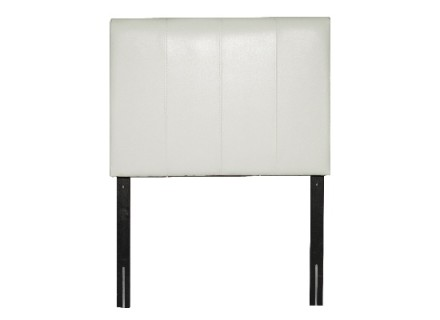 Lily Headboard (Single White-leather)
