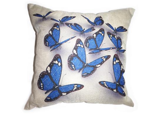Blue Butterfly Pillow (PLL 30)