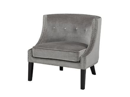 Cuba accent chair (velvet grey)