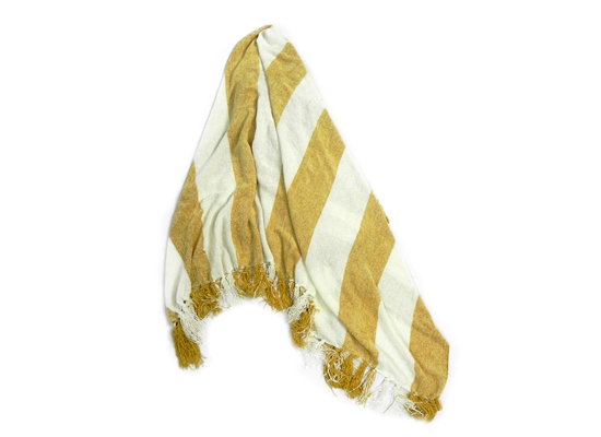 Yellow & White Throw (TH 5)