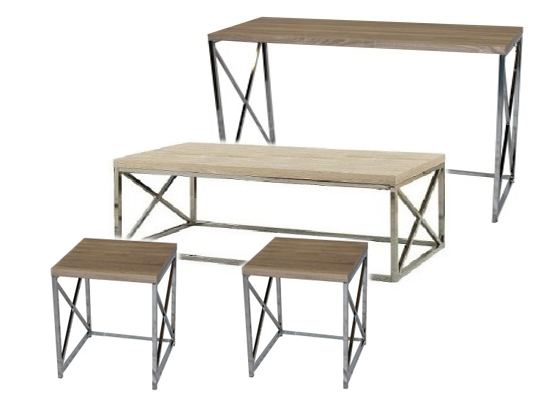 city natural coffee table set