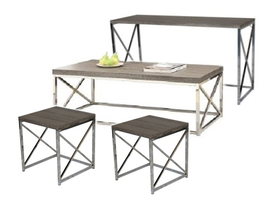 city taupe coffee table set