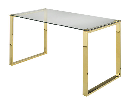 Glass Desk (Gold)