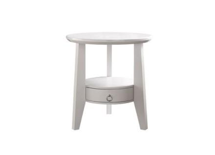 Dia white night table