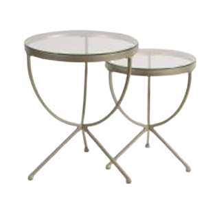 Crystal Nesting End Table Set