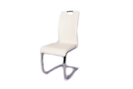 Bond Leather Dining Chair (White)
