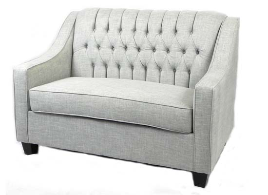 roma love seat (tiffany grey)