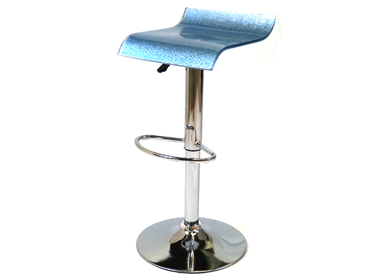 glass bar stool (blue) (br 6)