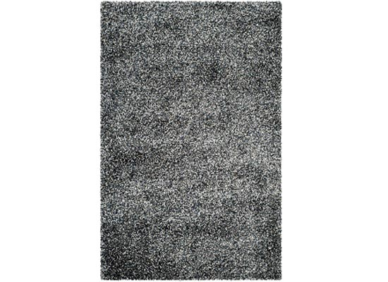 dark grey shag rug 7 x 10 (R 89)