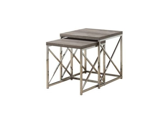 City taupe nesting end table