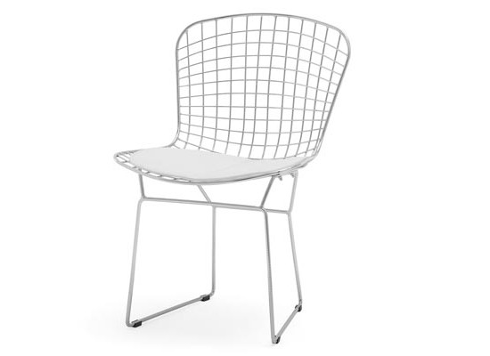 mesh dining chair (White)