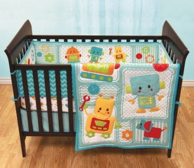 robot bedding set (crib)