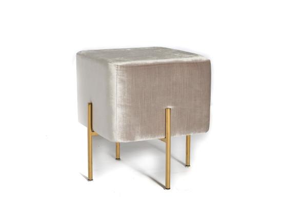 Carson Ottoman (grey:gold legs)