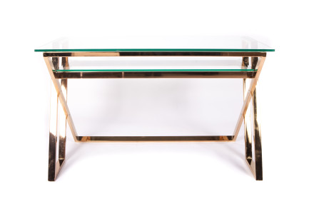 twin desk (rose gold)