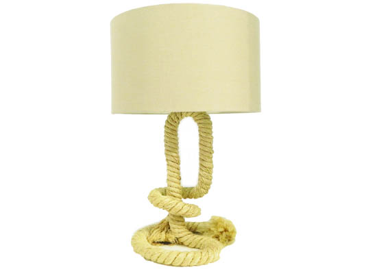 rope table lamp (lmt 38)