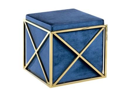 lux ottoman (velvet blue)